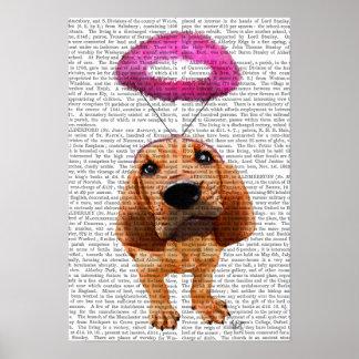 天使のピンクのハローのブラッドハウンド ポスター