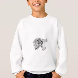 天使のモノグラムのイニシャルに文字を入れて下さい スウェットシャツ