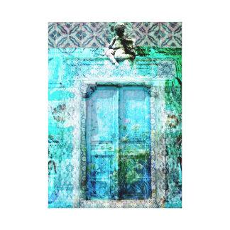 天使のロマンチックでイタリアンなルネサンスのドア キャンバスプリント