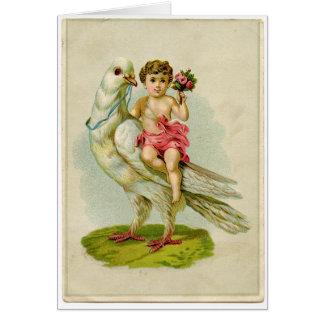 天使の乗馬の鳩 カード