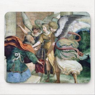 天使の人のセービングの旧式な絵画 マウスパッド
