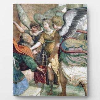 天使の人の宗教の絵画 フォトプラーク