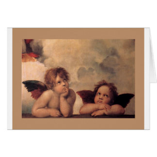 天使の信頼Raphaelのヴィンテージの古い絵画の賛美 カード