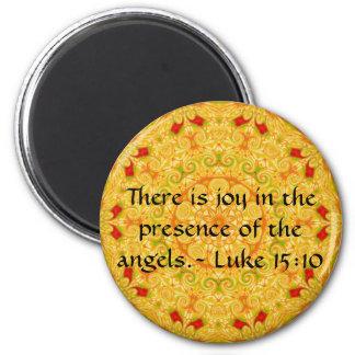 天使の前に喜びがあります。-ルーク マグネット