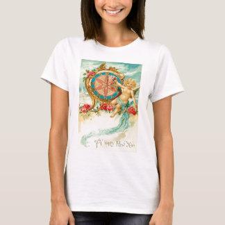 天使の天使のばら色の時計の新年 Tシャツ