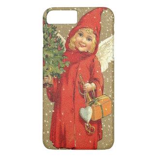 天使の天使のクリスマスツリーの雪 iPhone 8 PLUS/7 PLUSケース
