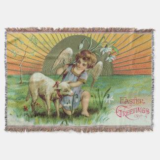 天使の天使の日曜日の子ヒツジのヒツジ スローブランケット