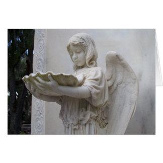 天使の女の子の歴史的なボナヴェントゥラのサバンナGAカード グリーティングカード