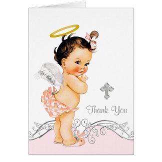 天使の女の子の洗礼の《キリスト教》洗礼式や命名式は感謝していしています カード