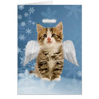 天使の子ネコのクリスマスカード カード