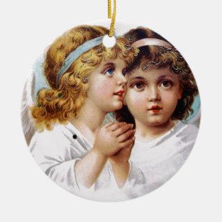 天使の子供を祈ること セラミックオーナメント