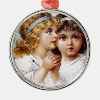 天使の子供を祈ること メタルオーナメント