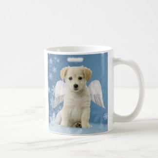 天使の子犬のクリスマスのマグ コーヒーマグカップ