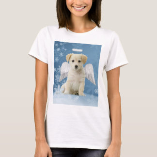 天使の子犬のクリスマスのTシャツ Tシャツ