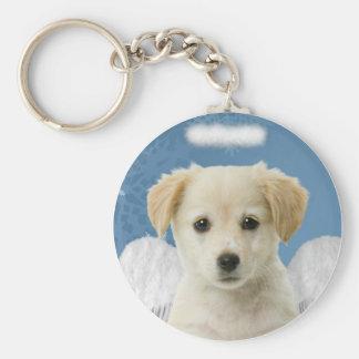 天使の子犬のクリスマスKeychain キーホルダー