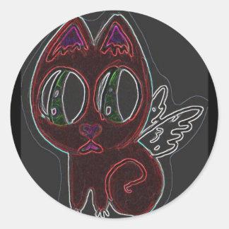 天使の子猫 ラウンドシール
