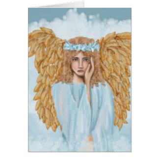 天使の悔やみや弔慰および哀悼の言葉カード カード