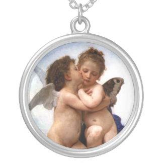 天使の接吻 シルバープレートネックレス