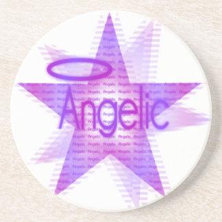 天使の星-砂岩飲み物のコースター コースター