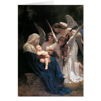 """""""天使の歌""""のクリスマスの挨拶状 カード"""