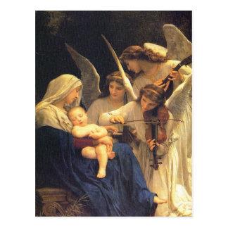 天使の歌、ウィリアム・アドルフ・ブグロー ポストカード