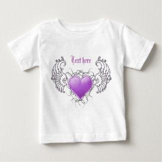 天使の水晶紫色 ベビーTシャツ