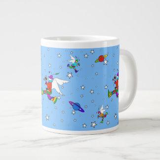 天使の男の星明かりの夜(SkyBlue) ジャンボコーヒーマグカップ
