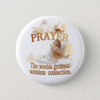 天使の祈りの言葉の世界の最も素晴らしい無線つながり 5.7CM 丸型バッジ