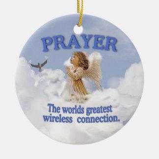 天使の祈りの言葉の世界の最も素晴らしい無線電信は#2を接続します セラミックオーナメント