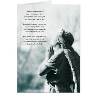 天使の祈りの言葉の悔やみや弔慰カード カード