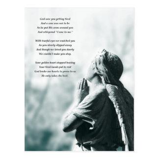 天使の祈りの言葉の悔やみや弔慰カード ポストカード