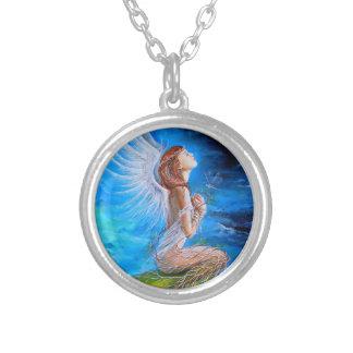 天使の祈りの言葉 シルバープレートネックレス