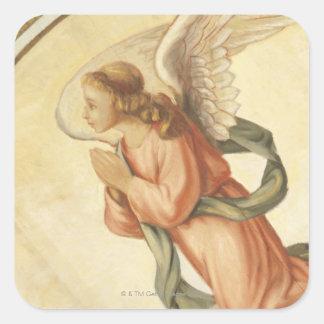 天使の祈ることの絵画 スクエアシール