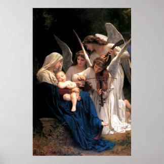 天使の私達の聖母マリア女性歌 ポスター