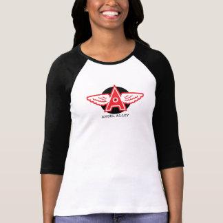 天使の細道の女性のBellaのキャンバス3/4の袖のRaglan Tシャツ