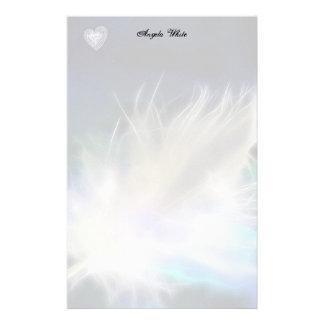 天使の羽およびハート! 便箋