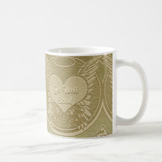 天使の翼が付いている井戸をすぐに得て下さい コーヒーマグカップ