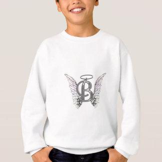 天使の翼及びハローの手紙Bの最初のモノグラム スウェットシャツ