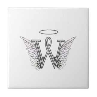 天使の翼及びハローの手紙Wの最初のモノグラム タイル