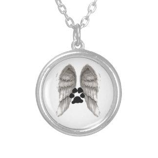 天使の翼 シルバープレートネックレス