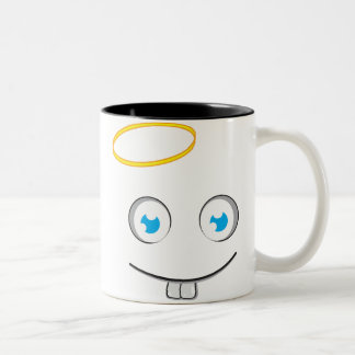 天使の表現のスマイルの茶マグ ツートーンマグカップ