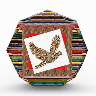 天使の鳥のGoodLUCKのギフトの芸術的な質パターン 表彰盾