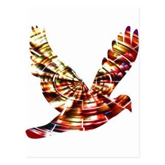 天使の鳩-きらめくで赤い宇宙エネルギー ポストカード