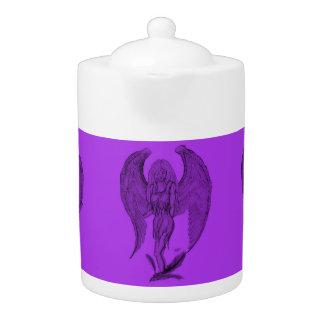 天使の黒いおよび紫色のデザイン