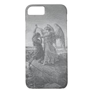 天使のiPhoneの例とのヤコブのレスリング iPhone 8/7ケース