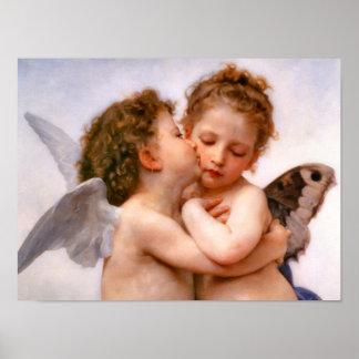 天使は最初に、Bouguereauのファインアート接吻します ポスター