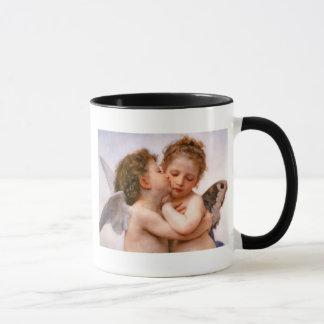 天使は最初に、Bouguereauのファインアート接吻します マグカップ