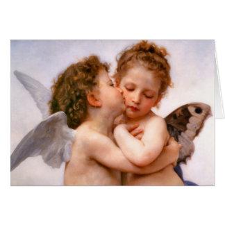 天使は最初に、Bouguereau接吻します カード