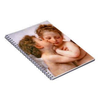 天使は最初に、Bouguereau接吻します ノートブック