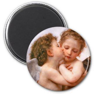 天使は最初に、Bouguereau接吻します マグネット